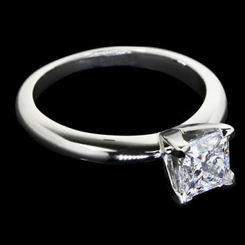 1.25 carat princess diamond solitaire engagement ring