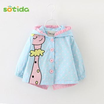 Baby Outwear 2018 New Winter Baby Girls fashion cartoon hooded Coats Cute Baby Jackets Kids Girls Clothes For Children Clothing