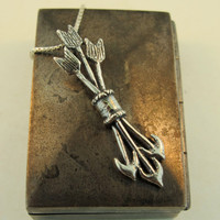 Silver Quiver and Arrow Charm Pendant
