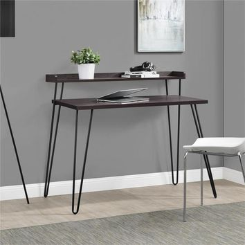 Altra Haven Retro Espresso/ Gunmetal Grey Desk with Riser | Overstock.com Shopping - The Best Deals on Desks