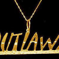 SS0009 Tupac 2pac Charm Gold Plated OUTLAWZ 2 by princeofdiamonds