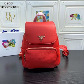 hcxx 1858 Prada Litchi beef hide bag red
