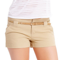 Chain Belted Cotton Short