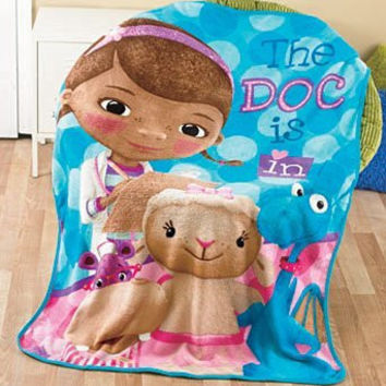 Disney Licensed Doc McStuffins Plush Fleece Throw