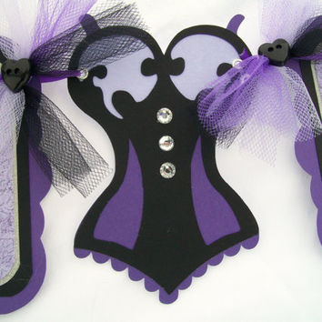 Purple bride to be banner, purple, grey and black, bachelorette banner