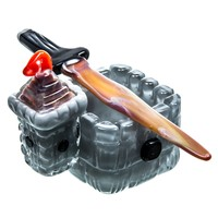 Empire Glassworks Castle Themed Dish & Dabber Set