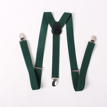 Men's Suits Candy Color Suspenders Clip Buckle