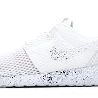 Nike Roshe One Customized by Glitter Kicks - White / Black Paint Speckle