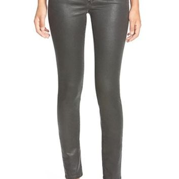 Women's AG 'The Legging' Black Sateen Ankle Jeans ,