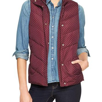 Gap Women Factory Polka Dot Puffer Vest