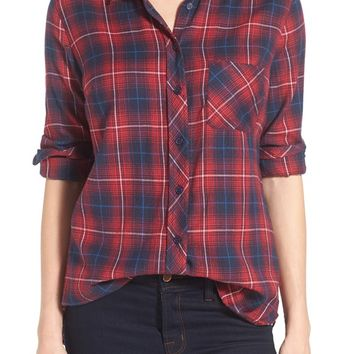 KUT from the Kloth 'Collin' Plaid Flannel Shirt | Nordstrom