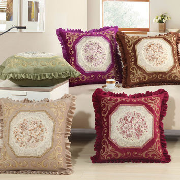 Shop Embroidered Pillows For Sofa on Wanelo