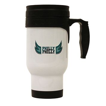 Philly Philly Funny Beer Drinking Stainless Steel 14oz Travel Mug by TooLoud