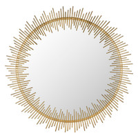 Safavieh Sunray Circle Mirror - Gold