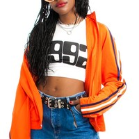 Vintage 90's Adidas Tangerine Stripe Jacket - One Size Fits Many