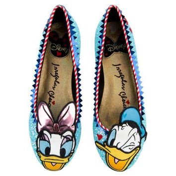 ONETOW Irregular Choice Mickey Mouse & Friends Collection Women's Whoa! Blue Flat