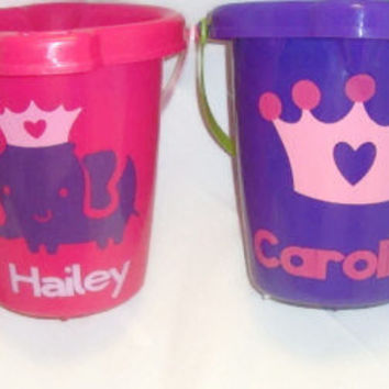 Princess Collection Personalized Sand Bucket . You create a character bucket for your child.
