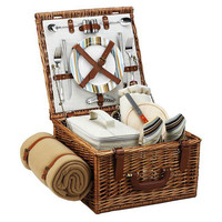 Cheshire Basket & Blanket for 2, Stripes, Picnic Baskets
