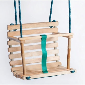 Wooden handmade swing UNPAINTED