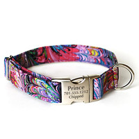 Designer Dog Collar With Personalized Buckle - Prince