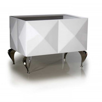 Versus Eva - White Lacquer Nightstand VGDVLS501A