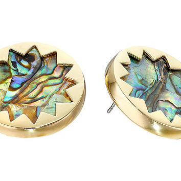 House of Harlow 1960 Abalone Sunburst Stud Earrings