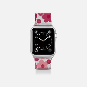 cherry blossom pop transparent apple watch band Apple Watch Band (38mm)  by Sharon Turner | Casetify