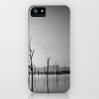 Sculptures in the Lake iPhone & iPod Case by Chris Chalk