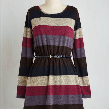 Short Length Long Sleeve A-line Friend Date Night Dress