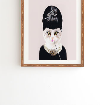 Coco De Paris Hepburn Cat Framed Wall Art