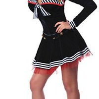 Delicious Women's Pin Me Up Sailor Sexy Costume