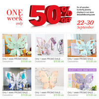Only 1 week PROMO SALE 50% (22-30 Sept) - Wooden Jewelry Display. Jewelry organizer / jewelry holder for necklaces, earrings, bracelets