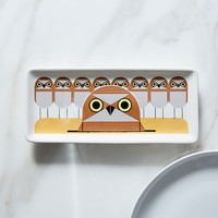 Fishs Eddy Charley Harper Serving Tray - Owls