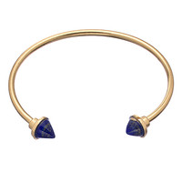 Blu Bijoux Faux Lapis Open Cone Bangle - Max & Chloe