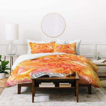 Rosie Brown Falling Petals Duvet Cover