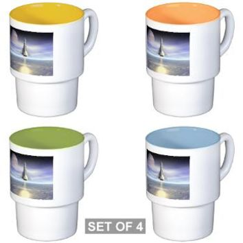 Rocket Launch Stackable Mug Set (4 mugs)> Rocket Launch> Perkins Designs