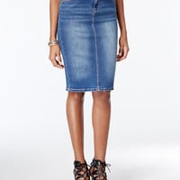 Calvin Klein Jeans Denim Pencil Skirt | macys.com