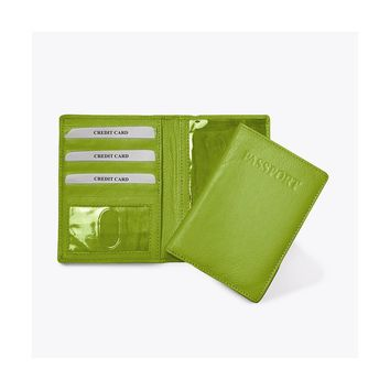 Lime, Red, Pink, Black or Blue Leather Passport Cover