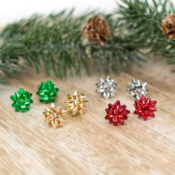 Christmas Bow Stud Earring