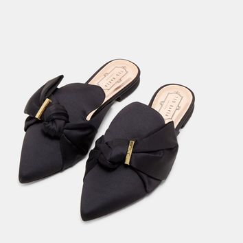 Stain Bow Loafers