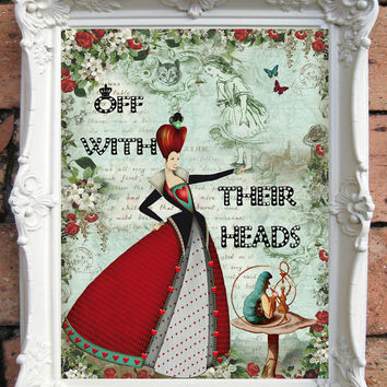 Alice in Wonderland Decor ALICE in Wonderland Quote Art Print Alice in Wonderland Nursery Wall Art Alice in Wonderland Nursery Decor  C:A39