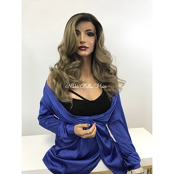 Balayage Blonde Swiss Lace Front Wig - Valley's Girlfriend 121745