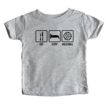 Eat Sleep Volleyball Baby Tee