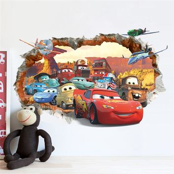 cars child room wall stickers for kids room