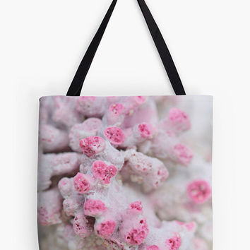 Women's bag, women's tote, pink bag, pink tote, arty bag, birthday gift, gift for mom, shopping bag, reusable grocery bag, market bag, coral