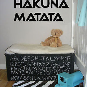 Hakuna Matata Words Decor Wall Mural Vinyl Decal Sticker AL558