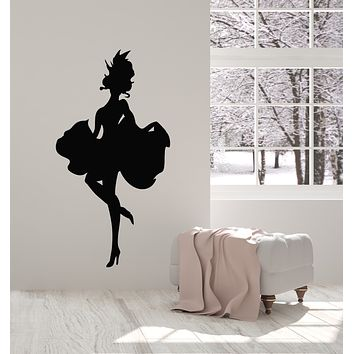 Vinyl Wall Decal Can-can Dancer Sexy Lady In Dress Silhouette Woman Stickers Mural (g816)