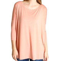 Nude Piko 3/4 Sleeve Top