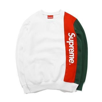 Fashion Womens Supreme Pullover Sweatshirt In Plus Size Christmas Gift