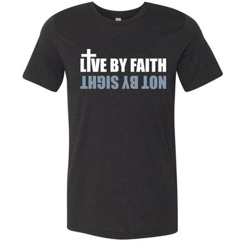 Live By Faith Christian Jersey T-Shirt